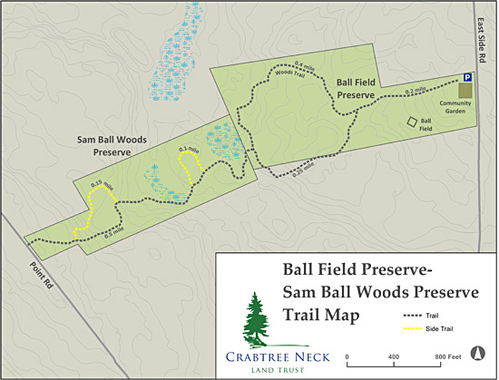 Ball Field Trail Map