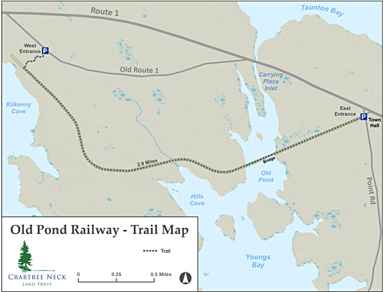 Old Pond Railway Trail Map