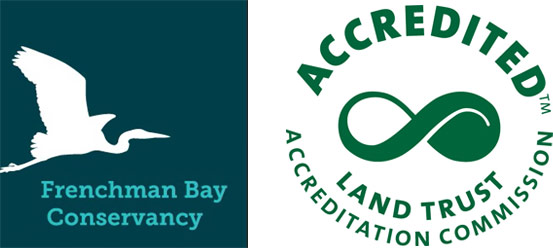 logos of Frenchman's Bay, Accredited Land Trust